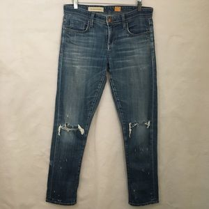 Pilcro and the Letterpress Hyphen Distressed Jeans